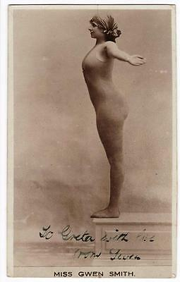 VINTAGE RP POSTCARD,MISS GWEN SMITH,SIGNED,GLAMOUR,ENTERTAINER,c1915