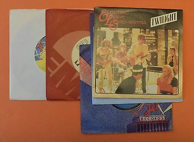 x5 Electric Light Orchestra vinyl 45 RPM singles 1970s 1980s