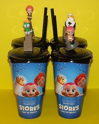 Storks - Cup Topper Figures + Cups (Set Of 4)