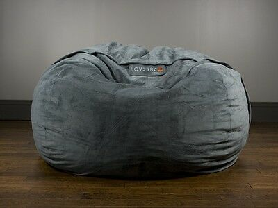 Lovesac - Supersac Foam Bean Bag in Charcoal Grey. Excellent Condition.
