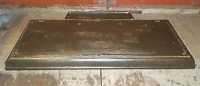 Rare Antique Cast Iron Fireplace Hearth  For Log Burner / Open Fire