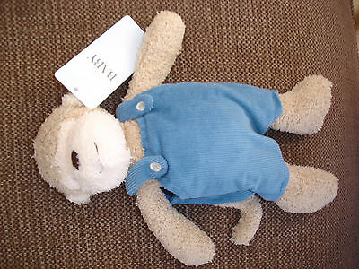 Marks & Spencer M&s Monkey Blue Cord Dungarees Baby Soft Toy Bnwt