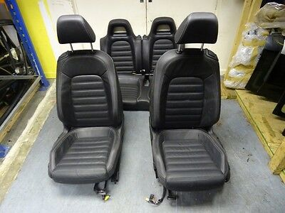 *vw Scirocco 2009-On Complete Black Leather Interior Seats Door Cards