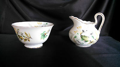 Small Royal Chelsea Creamer and Sugar Set Floral with Gold Trim–finalstopshop
