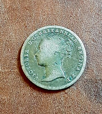 queen Victoria bun head Four Pence or Groat 1838 coin silver