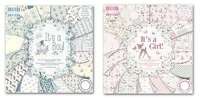 """Dovecraft - First Edition - 6"""" x 6"""" Paper Pad Its a Girl/Its a Boy, Scrapbooking"""