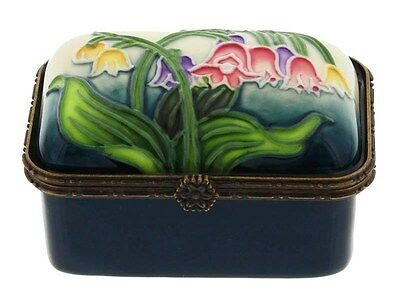 Old Tupton Ware Porcelain TRINKET BOX - Lily of the Valley Flower GIFT BOXED