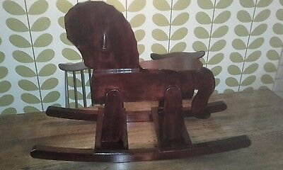 Wooden Rocking Horse Solid Wood Hand Built