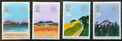 SG1211-1214 Commonwealth Day, Geographical regions, 1983, MNH