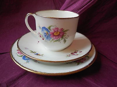 Collectable Royal Heritage / Clare Bone China Cup Saucer & Side Plate - England