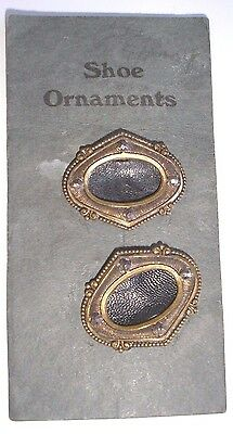 PAIR OF MINI  SHOE ORNAMENTS FOR DOLL/TOY MAKING  App 3.5cm LOT 2
