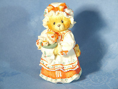 "Cherished Teddies. Holly. ""a Cup Of Homemade Love"". 1995 Figurine"