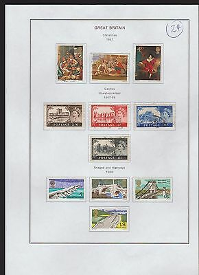 Great Britain  Page From An Old Album  1967/68   (24)