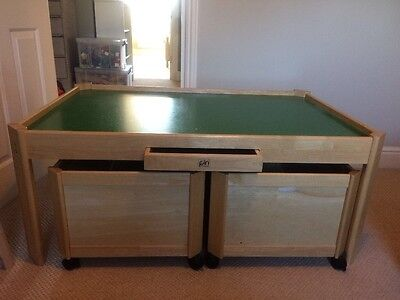 Large Pin toy Wooden Games/Play Table With Drawer