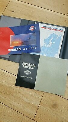 Nissan Micra K11,owners handbook pack ,good used condition.