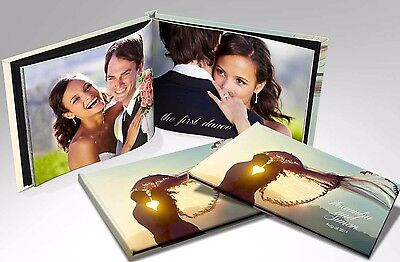 WEDDING Album A5 Hardcover PERSONALISED Custom Photo Book Scrapbook Bride Groom