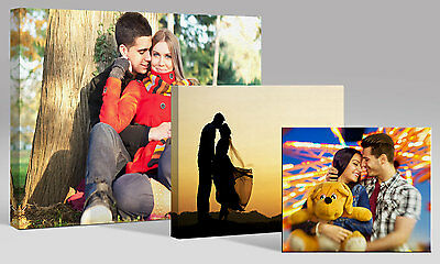"""Personalised 16x12"""" (40x30cm) YOUR PHOTO on a CANVAS Print Custom 18mm Framed"""