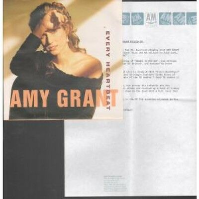 """AMY GRANT Every Heartbeat 7"""" VINYL UK A&M 1991 7"""" Heart And Soul Mix With A4"""