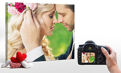 """Personalised A2 24x16"""" (61x41cm) YOUR PHOTO on a CANVAS Print Custom 18mm Hang"""