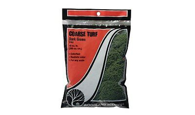 Woodland Scenics T65. Coarse Turf - Dark Green.