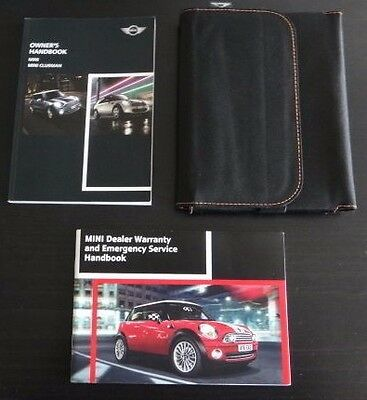BMW Mini Clubman/Hatch/JCW Owners Manual Handbook Pack & Wallet-2010-2014