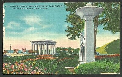 Memorial To The Women of the Mayflower Plymouth Rock Portico Plymouth MA Linen 1