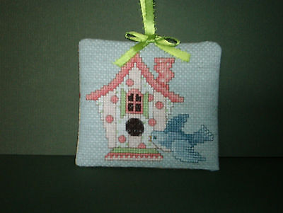 Finished Cross Stitch Valentine's Day Ornament - #100