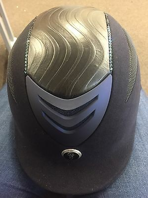 Gatehouse Conquest Riding Hat Navy Crystal Size Large(59-60)  BSEN 1384