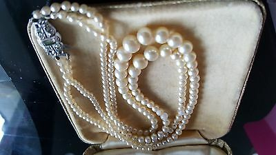 Vintage Jewellery Pearl Necklace(Real?)2  Strand...sale  Sale!!