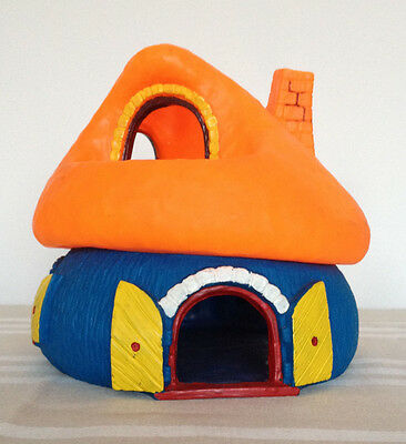 Large orange and blue Smurfs house