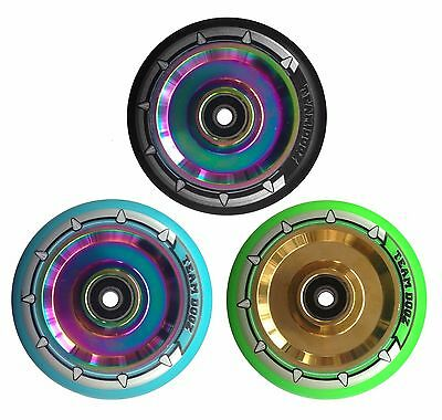 Solid Alloy Core Stunt Scooter 100mm 110mm Wheel Neochrome, Rainbow, Gold