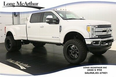 2017 Ford F-350 LIFTED LARIAT MAC TRUCK 4X4 CREW CAB MSRP $83375 UPER DUTY DUALLY 4WD 4 DOOR CREW CAB POWER STROKE DIESEL NAVIGATION LEATHER