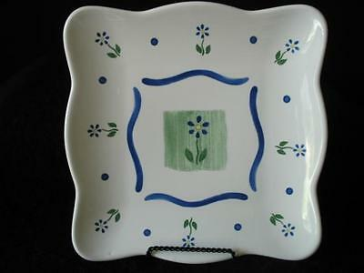 """Pfaltzgraff Cloverhill Floral Choices Square 8"""" Plate Tray"""