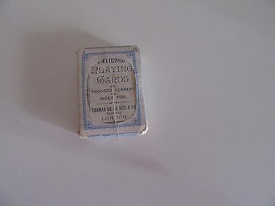 ANTIQUE  DE LA RUE PLAYING CARDS  Index @ Pips Early Rounded Corner