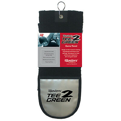 Masters Te 2 Green Golf Towel - New Ball Cleaner Club Cleaning Pad