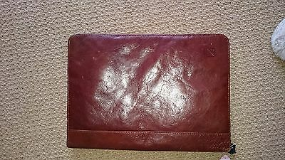 Distressed Leather A4 Organiser/folder/document  zipped business