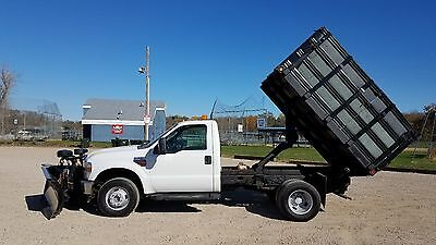 2008 Ford F-350  2008 Ford F-350 Super Duty Dump truck w/ Snow Plow 6.4L Diesel DRW Chassis frame