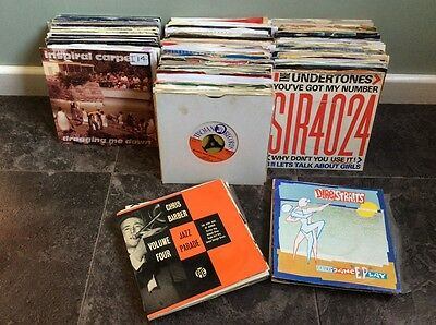 """7"""" & EP VINYL RECORD COLLECTION-ROCK/POP/SOUL/JAZZ/60s/REGGAE-IN GREAT CONDITION"""
