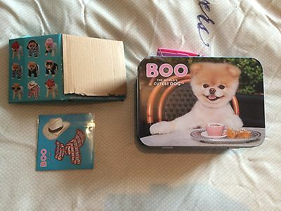 Boo The Cutest Dog In The World Lunch Box Style Tin + Costume Dress Up Stickers