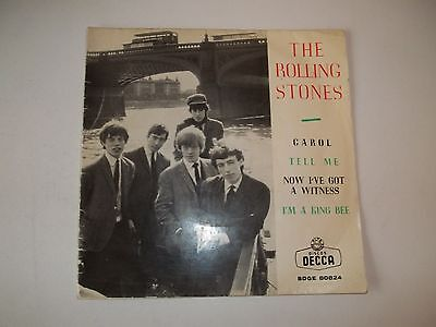 """Rolling Stones Ep """"the Rolling Stones"""" Decca  Sdge 80824 1964 Vg/vg+ Columbia"""