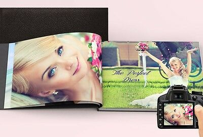 WEDDING Album A4 PERSONALISED Leather Photo Book Scrapbook Memories YOUR Photos