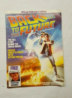 Back to The Future The Story Official 1985 Souvenir magazine collectors edition