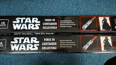 Master Replicas Star Wars Force MX Light Saber Collectible **DARTH MAUL X2**