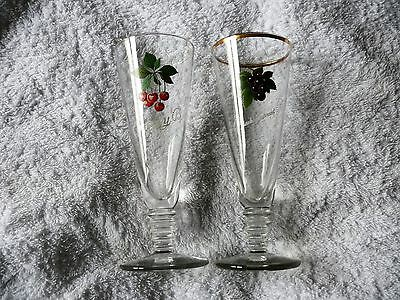 1 Cherry B and 1 Blackcurrant B Twisted Stem Glasses