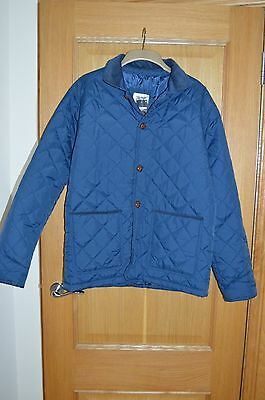 Men's Navy Blue Quilted Puffer Jacket Coat Size L Large BNWT