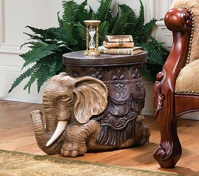 Indoor Plant Stand Patio Side Table For Small Spaces Asian Foot Stool Elephant
