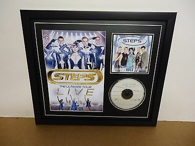 Steps Hand Signed/Autographed CD cover with CD and a Photo & COA