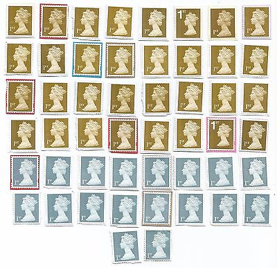 50 UNFRANKED 1st CLASS GB STAMPS PK4
