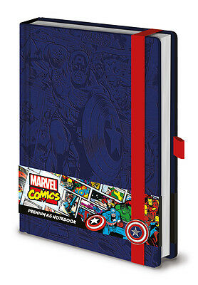 Official Marvel Comics (Captain America) Premium A5 Notebook Leather Look Cover