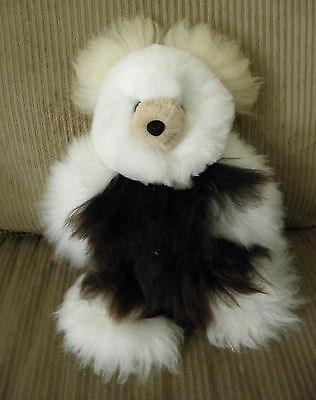 Brand New Soft Baby Alpaca Teddy Bear Handmade In Peru 14 inches Tall #2834